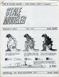 GODZILLA RARE Stale Modeler Schematics Brochure May 1977 4pgs. V2 #5