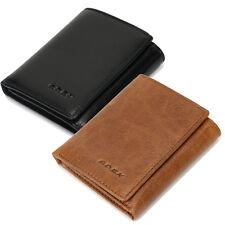 GMC Black Italian Leather Trifold Wallet