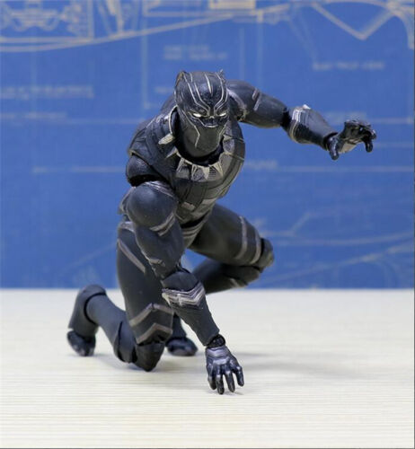 """Civil War SHF Toy in Box 6/"""" S.H.Figuarts Black Panther Figure Captain America"""