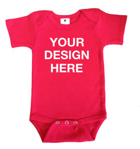 4f09736ac Image is loading DESIGN-YOUR-OWN-CUSTOM-PERSONALISED-Baby-Grow-Sleepsuit-
