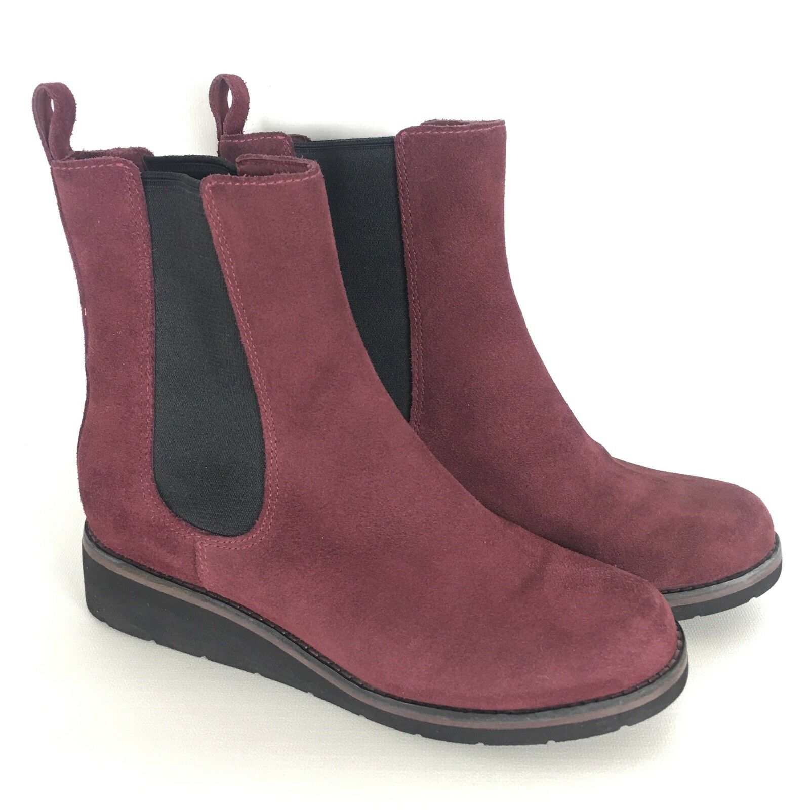 Cole Haan Johanna burgundy Suede Waterproof Wedge Stiefel damen SZ 8 B Waterproof
