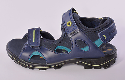 Ecco Urban Safari Boys Blue Leather Sandals UK 2.5 EU 35 US 3.5 RRP £47