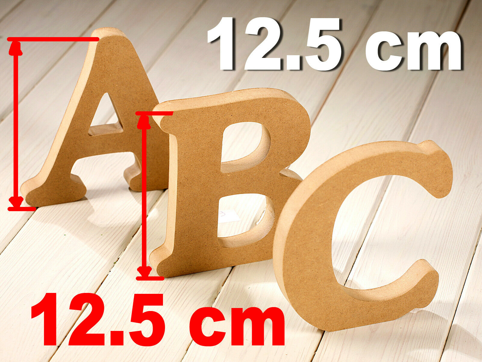 MDF letters 12.5cm 125mm wooden