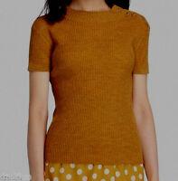 Tory Burch Merino Wool Short Sleeve Sweater Size Xs