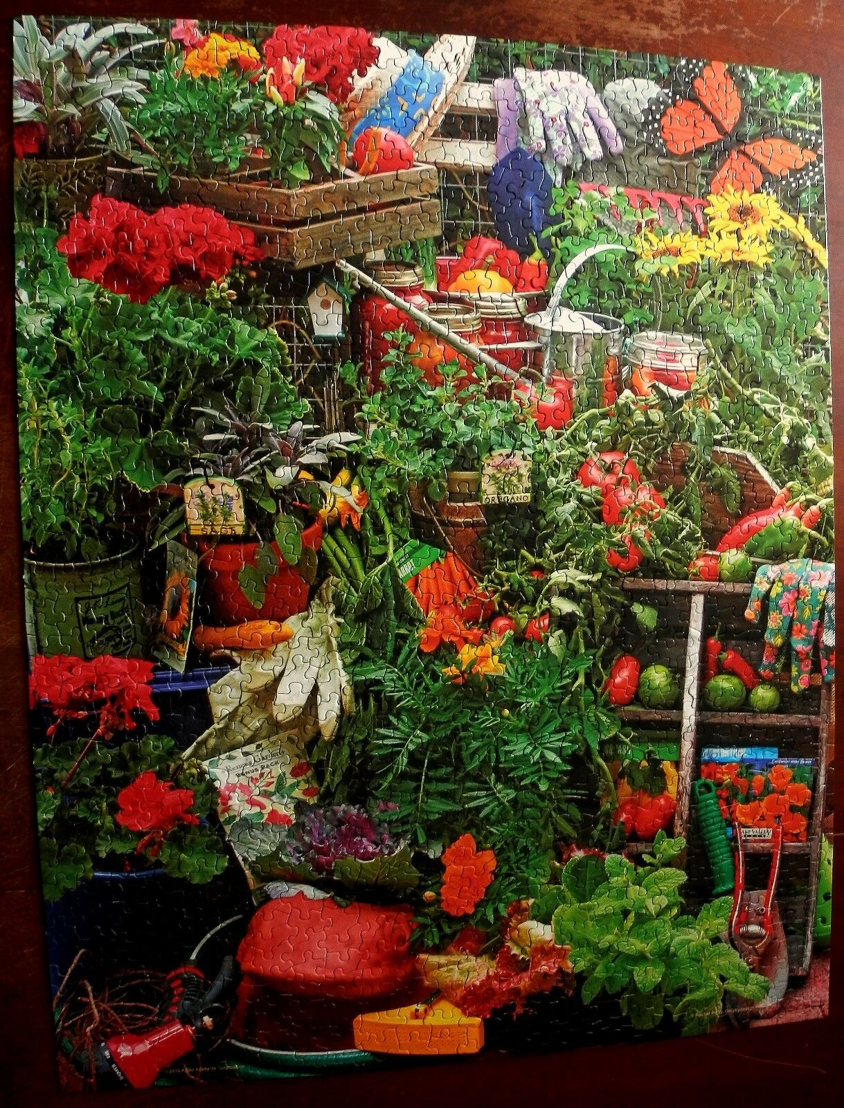 2006 springbock puzzle garten freuden - gemse Blaumen samen cib
