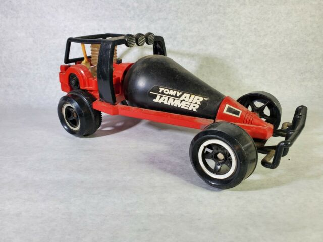 Tomy Air Jammer Road Rammer Air Powered Race Car Red Vintage Toy Japan - No Pump