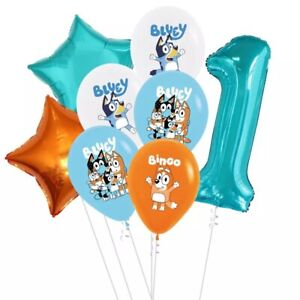 Bluey And Bingo 13pcs Foil/Latex Party Balloons Supplies Decorations.