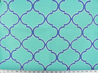 Drapery Upholstery Fabric Indoor/outdoor Traditional Design White/blue/turquoise