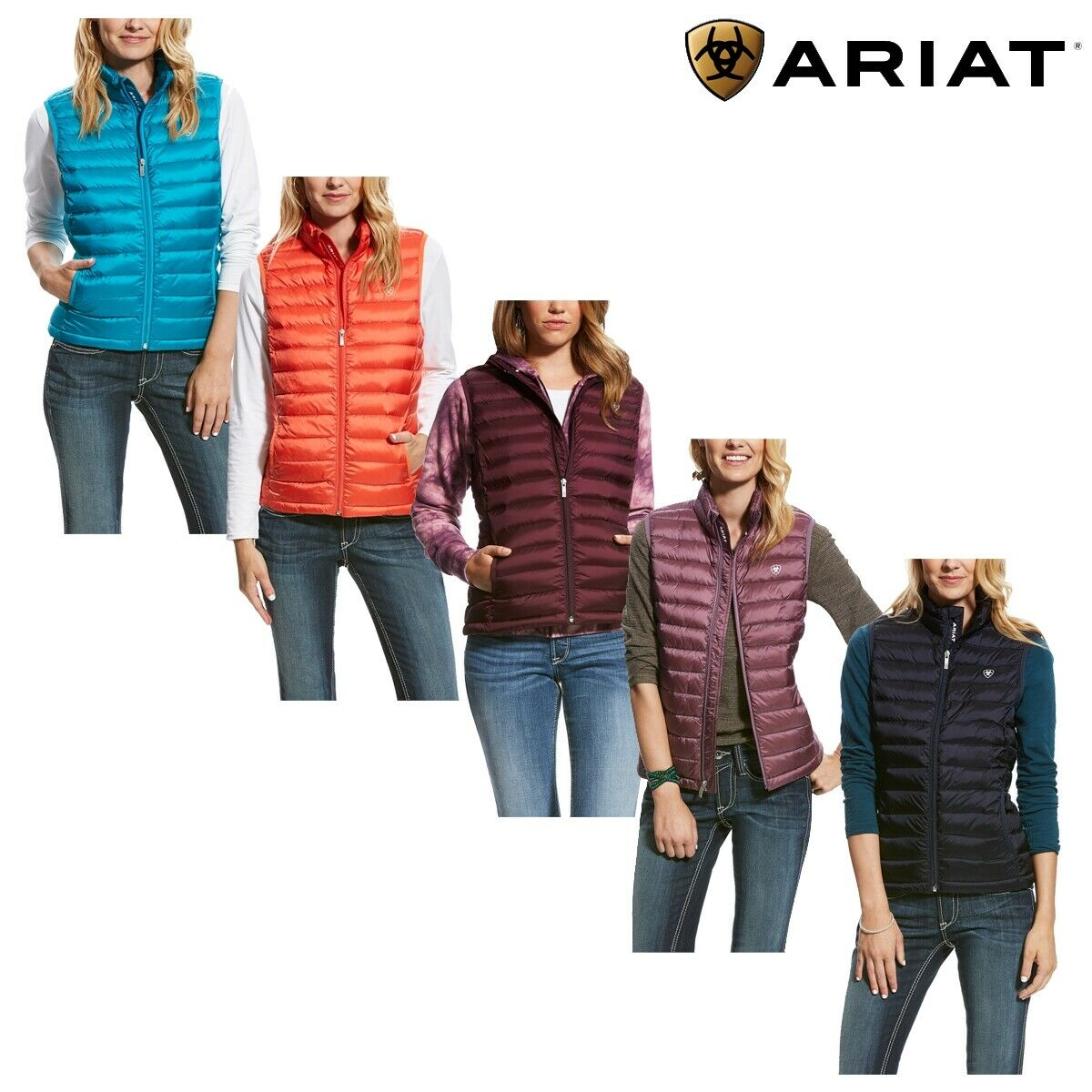 Ariat Women's Ideal Down Vest AW18 - Free UK Shipping