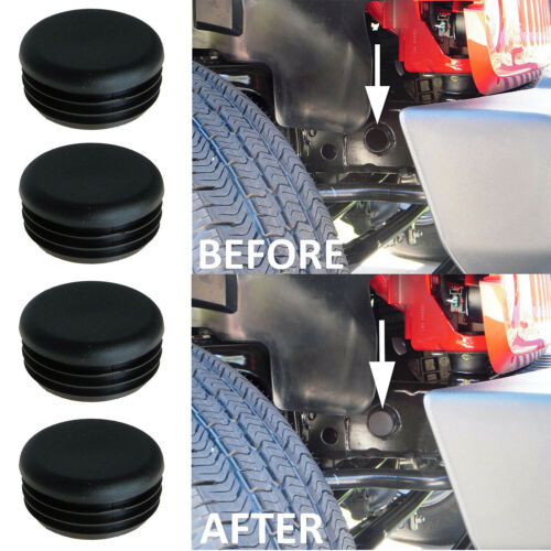 4Pcs Black Rear Frame Hole Cover Plugs Keep out Mud for Jeep Wrangler JK 07-18