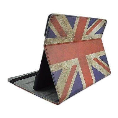 Cover per Ipad Air 2 Custodia a libro eco pelle bandiera Inghilterra vintage USA
