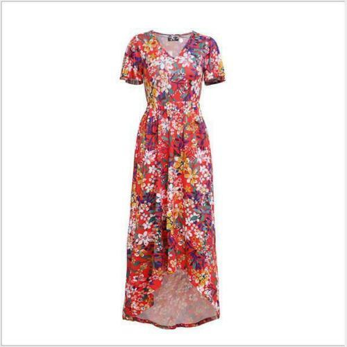 Dress Sundress Boho Maxi Beach Women Evening Cocktail Floral Party Long