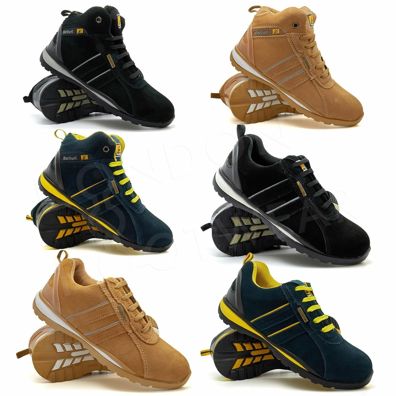 New Mens Safety Ankle Boots Trainers Steel Toe Cap Hiker UK Work Shoes Size 6-12 UK Hiker bd2c68