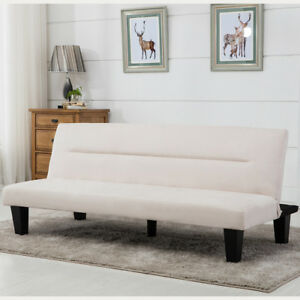 Image Is Loading Futon Sofa Bed Furniture Convertible Microfiber Upholstery Couch