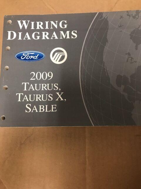2009 Ford Taurus Mercury Sable Wiring Diagram Manual Oem