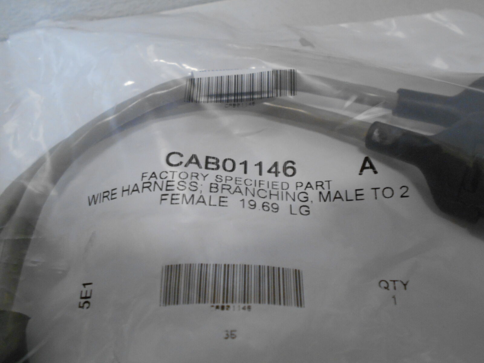 CAB01146 Wire Harness Cable nching Male To 2 Female 19.69 LG on