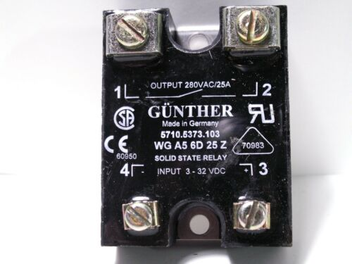 SOLID-STATE RELAY GUNTHER WG-A5 6D 25 Z