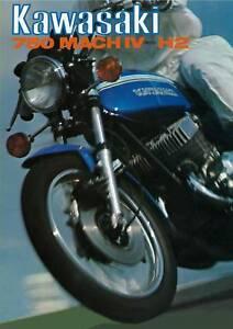 Details about KAWASAKI Brochure H2 Mach IV 750 1972 Sales Catalog Catalogue  REPRO