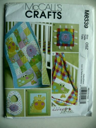 McCall/'s Pattern 6339 Aniamal Themed Baby Room Items nursery giraffe lion
