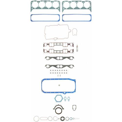 Chevy 350 5.7 Vortec Fel Pro Full Gasket Set Head Intake Oil Pan Exhaust 1996-02