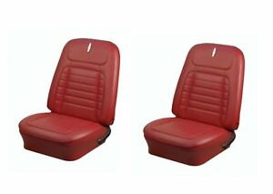 Admirable Details About 1968 Camaro Coupe Front Rear Deluxe Red Seat Upholstery Non Folding Rear Seat Onthecornerstone Fun Painted Chair Ideas Images Onthecornerstoneorg