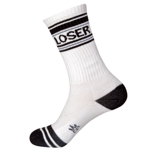 Loser Unisex Gumball Poodle Ribbed Gym Socks
