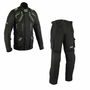 Motorradkombi-Biker-Motorrad-Textil-Kombi-wasserdichte-Jacke-und-Hose-Touring