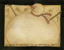 Snowman Design Note Pad Possibilities 3476 By Primitives By Kathy