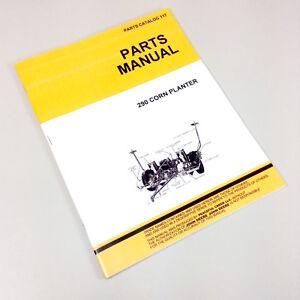 Parts Manual For John Deere 290 Corn Planter Drill Catalog Seed