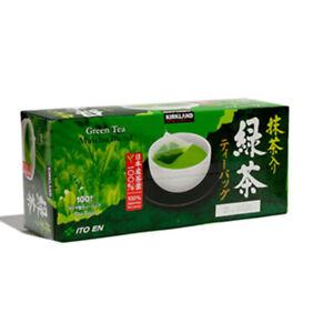 Kirkland ITO EN Japanese Green Tea Matcha Blend Leaves-100 Tea Bag Pack 96619354436