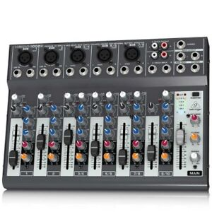 Behringer 802 Mixer Passiv 8 Basisgerät ohne Effekte für Voice