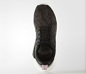 NEW-Adidas-Originals-BY9314-WOMEN-039-S-NMD-R2-BOOST-SHOES-Black-Pink-US9