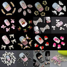 New Chic 10Pcs 3D Nail Art Glitter Decoration Colorful Alloy Rhinestones B7