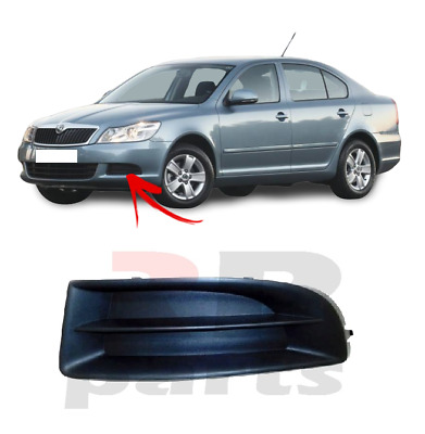 1Z FOR SKODA OCTAVIA 09-13 NEW FRONT BUMPER FOGLIGHT COVER BLACK PAIR SET