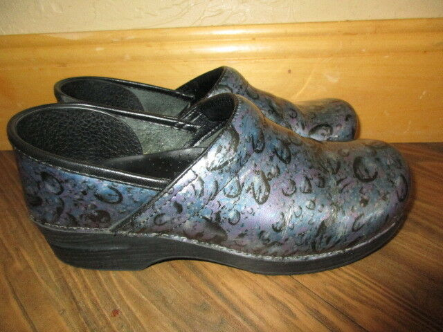 DANSKO CLOGS BUBBLES WATER DROP Purple PROFESSIONAL SHOES Wm EC!!