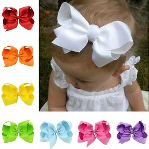 10PCS-Baby-Girls-Hairpin-Big-Ribbon-Bows-Boutique-Hair-Clip-Hair-Accessories