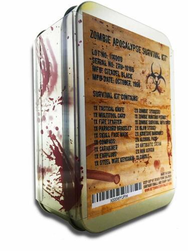 Citadel Black Zombie Apocalypse Survival Kit Knife Multi-Tool Fire Starter,