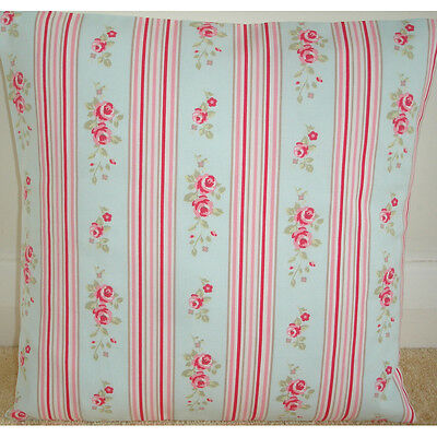 """NEW 16"""" Cushion Cover Shabby Chic ★ Duck Egg Blue Pink Stripes Flowers ★ Vintage"""