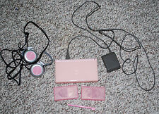 Nintendo DS Lite Pink Girls Gaming Bundle Earphones Charger Game Storage Stylus