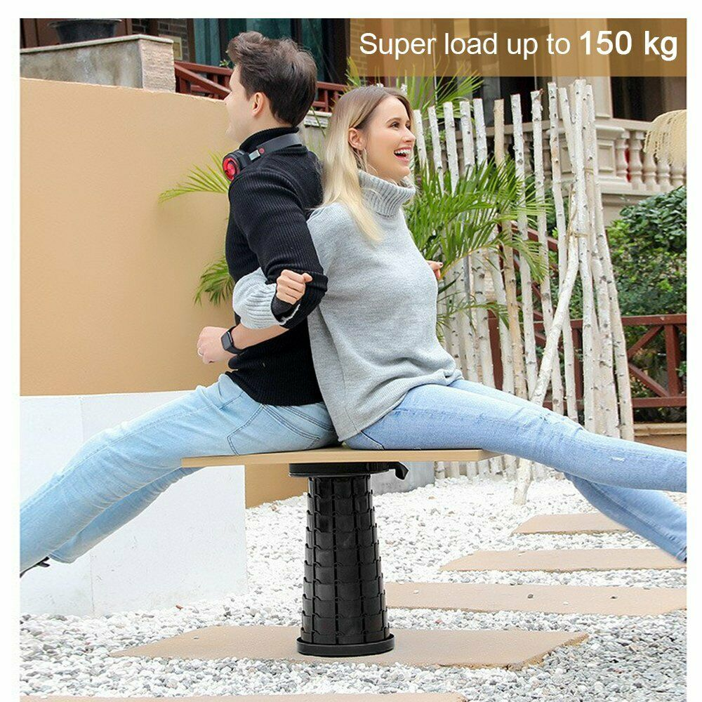 Folding Stool Portable Telescoping Seater Retractable for Outdoor Fishing Chair
