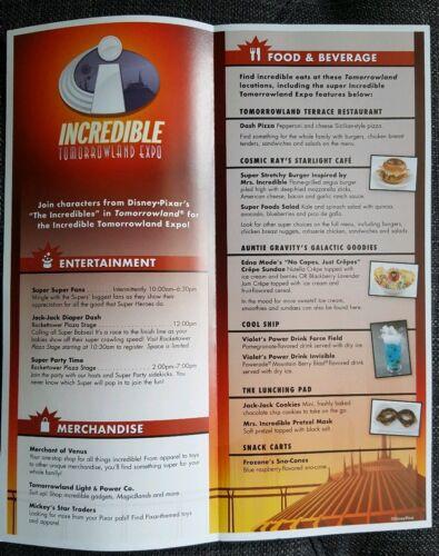 Disney World Magic Kingdom Guidemap The Incredibles 5//25-5//26 2018