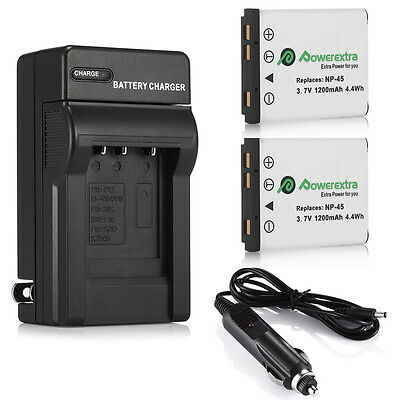 NP-45 NP-45A Battery + Charger For Fujifilm FinePix XP70 XP60 XP50 T550 JX700