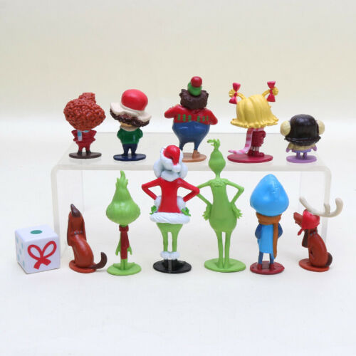 12PCS Movie Cartoon The Grinch PVC Puppe Figur Kind Spielzeuge Cake Topper Gift
