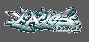 Philadelphia-Eagles-Graffiti-Vinyl-Decal-8x3