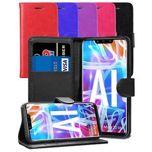 Pour-Huawei-Mate-20-Lite-Case-Premium-Portefeuille-En-Cuir-Flip-Case-Cover-amp-Screen