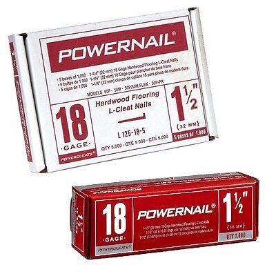 "Powernail 18 Gauge 1-1//2/""  PowerCleats Box of 1,000 Wood Flooring Nails L150-18"