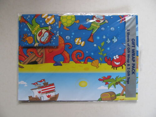 Giftwrap 2 Gift Wrap /& 2 Tags Sheets Birthday Occasion Style Boy Girl Man Woman