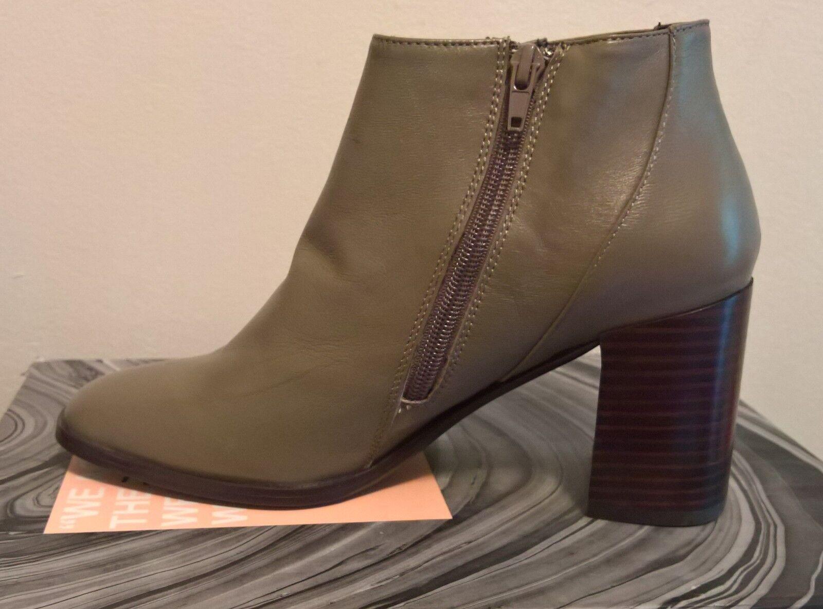 Jeffrey Campbell Damens Soulman Taupe Leder Ankle Stiefel Größe 8