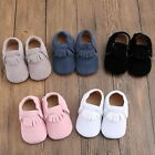 Baby Soft Sole Suede/Leather Shoes Infant Boy Girl Toddler Moccasin 0-18m JCU