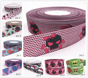 Wholesale-10yds-1-039-039-25mm-Crafts-printed-grosgrain-ribbon-Hair-bow-sewing-gift